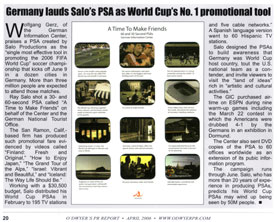 Click to Enlarge: Germany lauds Salo's PSA